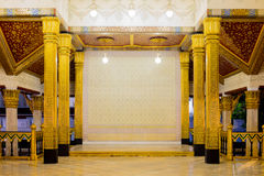 Ταϊλανδικό βασιλικό εσωτερικό κτηρίου Στοκ φωτογραφίες με δικαίωμα ελεύθερης χρήσης