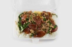 Ταϊλανδικό γρήγορο φαγητό στο κιβώτιο αφρού Στοκ εικόνες με δικαίωμα ελεύθερης χρήσης