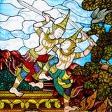 Ταϊλανδικό γυαλί λεκέδων τέχνης Στοκ Φωτογραφίες
