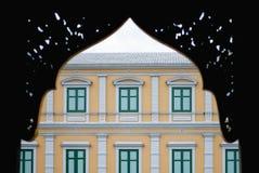 Ταϊλανδικό εκλεκτής ποιότητας κίτρινο κτήριο Στοκ Φωτογραφίες