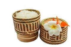 Ταϊλανδικό εμπορευματοκιβώτιο ρυζιού μπαμπού κολλώδες στοκ εικόνα με δικαίωμα ελεύθερης χρήσης