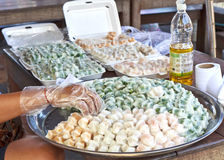 Ταϊλανδικό επιδόρπιο (γλυκό ταϊλανδικό επιδόρπιο ατμού) Στοκ φωτογραφία με δικαίωμα ελεύθερης χρήσης