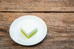 Ταϊλανδικό επιδόρπιο, ταϊλανδική ζελατίνα καρύδων Στοκ φωτογραφία με δικαίωμα ελεύθερης χρήσης