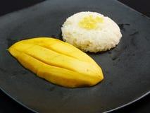 Ταϊλανδικό επιδόρπιο τροφίμων, khao niaow μΑ muang Στοκ Εικόνες