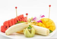 Ταϊλανδικό επιδόρπιο ύφους των φρούτων Στοκ Εικόνες