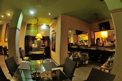 Ταϊλανδικό εσωτερικό σχέδιο εστιατορίων Στοκ εικόνα με δικαίωμα ελεύθερης χρήσης
