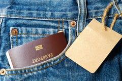 Ταϊλανδικό διαβατήριο στην τσέπη Στοκ εικόνες με δικαίωμα ελεύθερης χρήσης