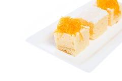 Ταϊλανδικό κέικ επιδορπίων στοκ εικόνες