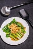 Ταϊλανδικό κατσαρό λάχανο στη σάλτσα στρειδιών Στοκ εικόνες με δικαίωμα ελεύθερης χρήσης