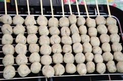 Ταϊλανδικό κεφτές χοιρινού κρέατος ύφους Στοκ Εικόνες