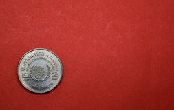 Ταϊλανδικό νόμισμα, δύο μπατ αναμνηστικό έτος νεολαίας νομισμάτων διεθνές Στοκ εικόνα με δικαίωμα ελεύθερης χρήσης