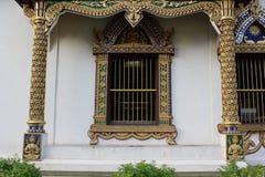 ταϊλανδικό παράθυρο ναών Στοκ Εικόνες