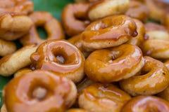 Ταϊλανδικό παραδοσιακό doughnut ύφους στοκ φωτογραφίες