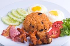Ταϊλανδικό πιάτο, αμερικανικό τηγανισμένο ρύζι Στοκ Εικόνα