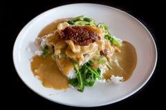 Ταϊλανδικό πιάτο: Μακροχρόνιο τραγούδι κριού Pra, χοιρινό κρέας Blaned με τη σάλτσα φυστικιών και Στοκ Εικόνες