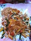 Ταϊλανδικό πιάτο: Μαξιλάρι Ταϊλανδός Στοκ Εικόνες