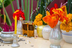 Ταϊλανδικό πιάτο σπιτιών πνευμάτων Στοκ Φωτογραφίες