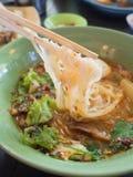 Ταϊλανδικό πικάντικο noodle στοκ εικόνες με δικαίωμα ελεύθερης χρήσης