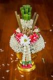 Ταϊλανδικό προσφέροντας πιάτο με areca το καρύδι και betel για την τελετή Στοκ φωτογραφία με δικαίωμα ελεύθερης χρήσης
