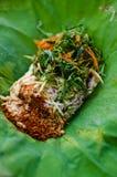 Ταϊλανδικό ρύζι με την πικάντικη σάλτσα Στοκ Εικόνες
