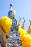 Ταϊλανδικό σπίτι πνευμάτων με το μπλε ουρανό Στοκ εικόνα με δικαίωμα ελεύθερης χρήσης