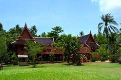 Ταϊλανδικό σπίτι ύφους, βασιλιάς Rama ΙΙ αναμνηστικό πάρκο στοκ φωτογραφία