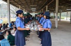Ταϊλανδικό στρατόπεδο ανιχνεύσεων σπουδαστών Στοκ Φωτογραφίες