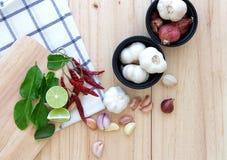 Ταϊλανδικό συστατικό τροφίμων για το μαγείρεμα Στοκ φωτογραφίες με δικαίωμα ελεύθερης χρήσης