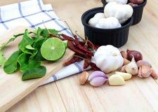 Ταϊλανδικό συστατικό τροφίμων για το μαγείρεμα Στοκ φωτογραφία με δικαίωμα ελεύθερης χρήσης