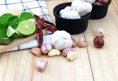 Ταϊλανδικό συστατικό τροφίμων για το μαγείρεμα Στοκ Εικόνα