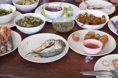 Ταϊλανδικό σύνολο τροφίμων ύφους της Ταϊλάνδης Στοκ Εικόνα