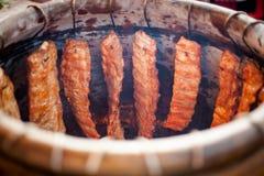 Ταϊλανδικό σύνολο φούρνων αργίλου των πλευρών Στοκ Φωτογραφίες