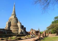 Ταϊλανδικό ταξίδι στην αρχαία παγόδα στον ταϊλανδικό ναό Στοκ φωτογραφία με δικαίωμα ελεύθερης χρήσης
