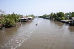 Ταϊλανδικό τοπικό κανάλι Στοκ εικόνες με δικαίωμα ελεύθερης χρήσης