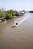 Ταϊλανδικό τοπικό κανάλι Στοκ εικόνα με δικαίωμα ελεύθερης χρήσης