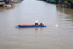 Ταϊλανδικό τοπικό κανάλι Στοκ Φωτογραφία