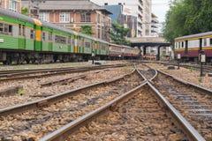 Ταϊλανδικό τραίνο σιδηροδρόμων Στοκ εικόνα με δικαίωμα ελεύθερης χρήσης