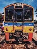 ταϊλανδικό τραίνο Στοκ φωτογραφία με δικαίωμα ελεύθερης χρήσης