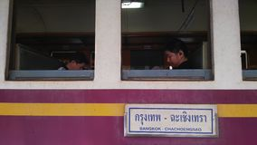 ταϊλανδικό τραίνο Στοκ Εικόνα