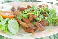 Ταϊλανδικό τσιγαρισμένο ξηρό χοιρινό κρέας Στοκ Εικόνες