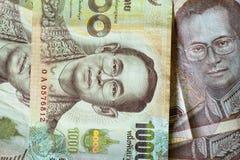 Ταϊλανδικό υπόβαθρο μπατ Νόμισμα της Ταϊλάνδης Στοκ Φωτογραφία
