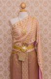 Ταϊλανδικό φόρεμα πολυτέλειας Στοκ εικόνα με δικαίωμα ελεύθερης χρήσης