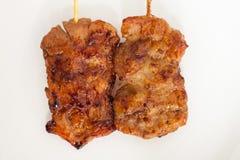 Ταϊλανδικό ψημένο στη σχάρα BBQ χοιρινό κρέας ύφους Στοκ Φωτογραφία