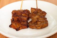 Ταϊλανδικό ψημένο στη σχάρα BBQ χοιρινό κρέας ύφους Στοκ Εικόνα