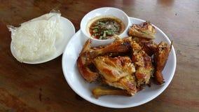 Ταϊλανδικό ύφος κοτόπουλου ψητού Στοκ Εικόνες