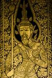 Ταϊλανδικό ύφος τέχνης ζωγραφικής αρχαίο Στοκ Εικόνες