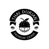 Ταϊλανδικό durian λογότυπο βαθμού ασφαλίστρου με το βουνό Στοκ φωτογραφία με δικαίωμα ελεύθερης χρήσης
