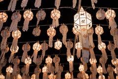 Ταϊλανδικό lanna φαναριών στοκ εικόνα με δικαίωμα ελεύθερης χρήσης