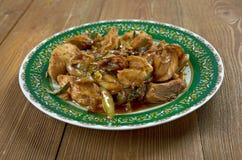 Ταϊλανδός ανακατώνει το κοτόπουλο τηγανητών Στοκ φωτογραφία με δικαίωμα ελεύθερης χρήσης