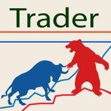 - ταύροι και αρκούδες εμπόρων διανυσματική απεικόνιση
